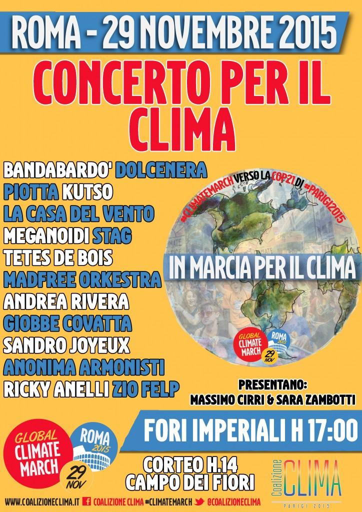 salerno concerto per il clima marcia roma
