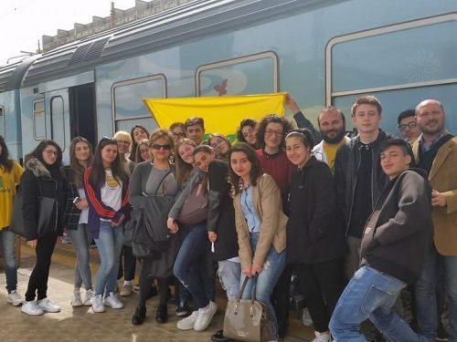 Reportage del Liceo scientifico Da Vinci al Treno Verde 2016